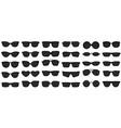 sunglasses icons black sunglass mens glasses vector image