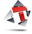 T 3d letter vector image