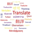Tag cloud or speech bubble Translate vector image vector image