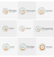 Thin line neat design logo collection vector image