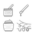 Tools for sugaring procedure vector image