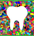 tooth sign white icon on vector image