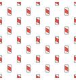 warning of railway pattern seamless vector image vector image