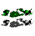 west nusa tenggara subdivisions indonesia vector image vector image