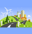 wind power plant vector image vector image