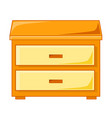 wooden bedside table isolated vector image vector image