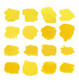 yellow blots watercolor set vector image vector image