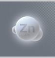 zinc mineral icon vector image