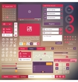 user interface flat design elements vector image