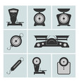 set of weighing machines vector image