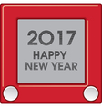 2017 Creative Happy New Year graphic vector image vector image