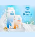 milk advertising realistic poster