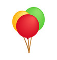 3 party balloons isometric 3d icon vector image