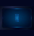 abstract blue gradient template background with vector image vector image