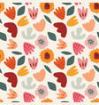 abstract floral seamless pattern hand drawn vector image vector image