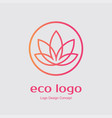 abstract flower logo design creative lotus symbol vector image vector image