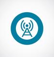 antenna icon bold blue circle border vector image vector image