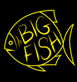 Big fish background for text