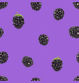 blackberry seamless pattern 3d realistic vector image