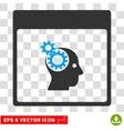 Brain Wheels Calendar Page Eps Icon vector image vector image