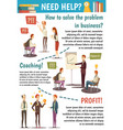 business trainings and coaching flowchart vector image vector image