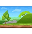 Cartoon color nature spring summer landscape in vector image