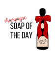champagne - soap of the day friday vector image vector image