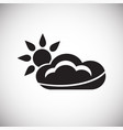 cloud with sun on white background vector image