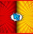 comic vs dynamic concept vector image vector image