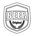 contour beer related emblem icon image vector image vector image