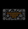 coronavirus disease 2019 outline horizontal vector image