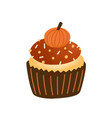 cupcake flat tasty muffin vector image
