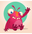 cute cartoon monster halloween vector image vector image