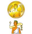 Emperor coin vector image vector image