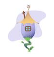 fantasy house cartoon fairy treehouse and vector image
