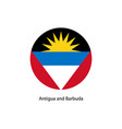flag - antigua and barbuda vector image
