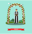 flat of priest under wedding vector image vector image