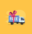 free shipping isolated vector image