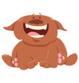 funny dog or puppy cartoon character vector image