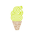 g monogram gelateria logo italian ice cream emblem vector image vector image