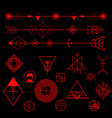 geometric design elements vector image vector image
