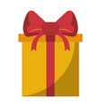 gift in a box wrapped shopping isolated vector image vector image