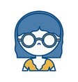 girl with glasses icon vector image vector image