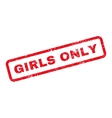 Girls Only Text Rubber Stamp vector image vector image