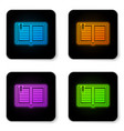 glowing neon open book icon isolated on white vector image vector image