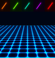 glowing perspective floor - easy to change color vector image vector image