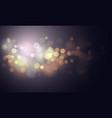 gold light blur glitter or sparkling defocused vector image