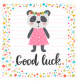 good luck inspirational quote hand drawn vector image