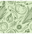 Green Vegetarian Pattern vector image
