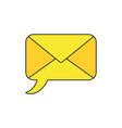 icon concept speech bubble closed envelope vector image